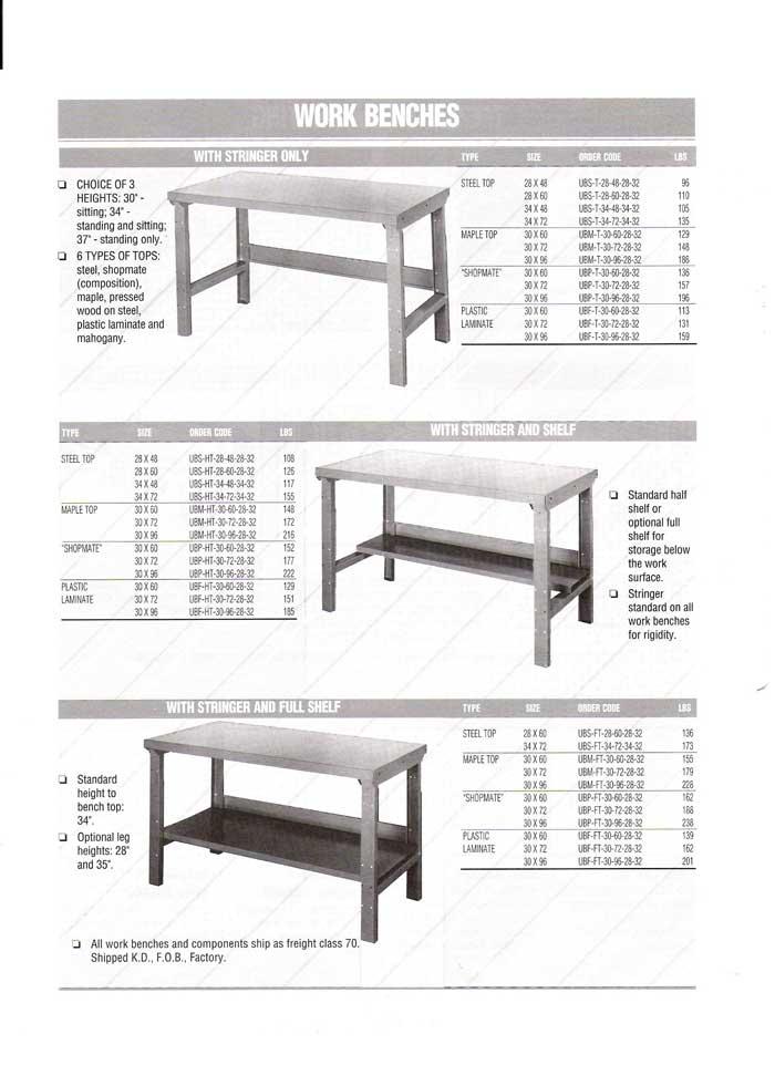 Amazing Standard Workbenches Machost Co Dining Chair Design Ideas Machostcouk